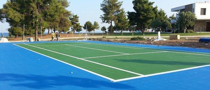 joker sport tennis court low cost flooring