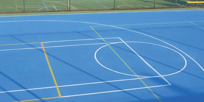 acrylic resin multisport court flooring basketball playground