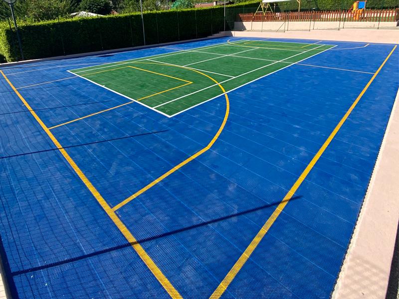 campo pickball pavimento sportivo